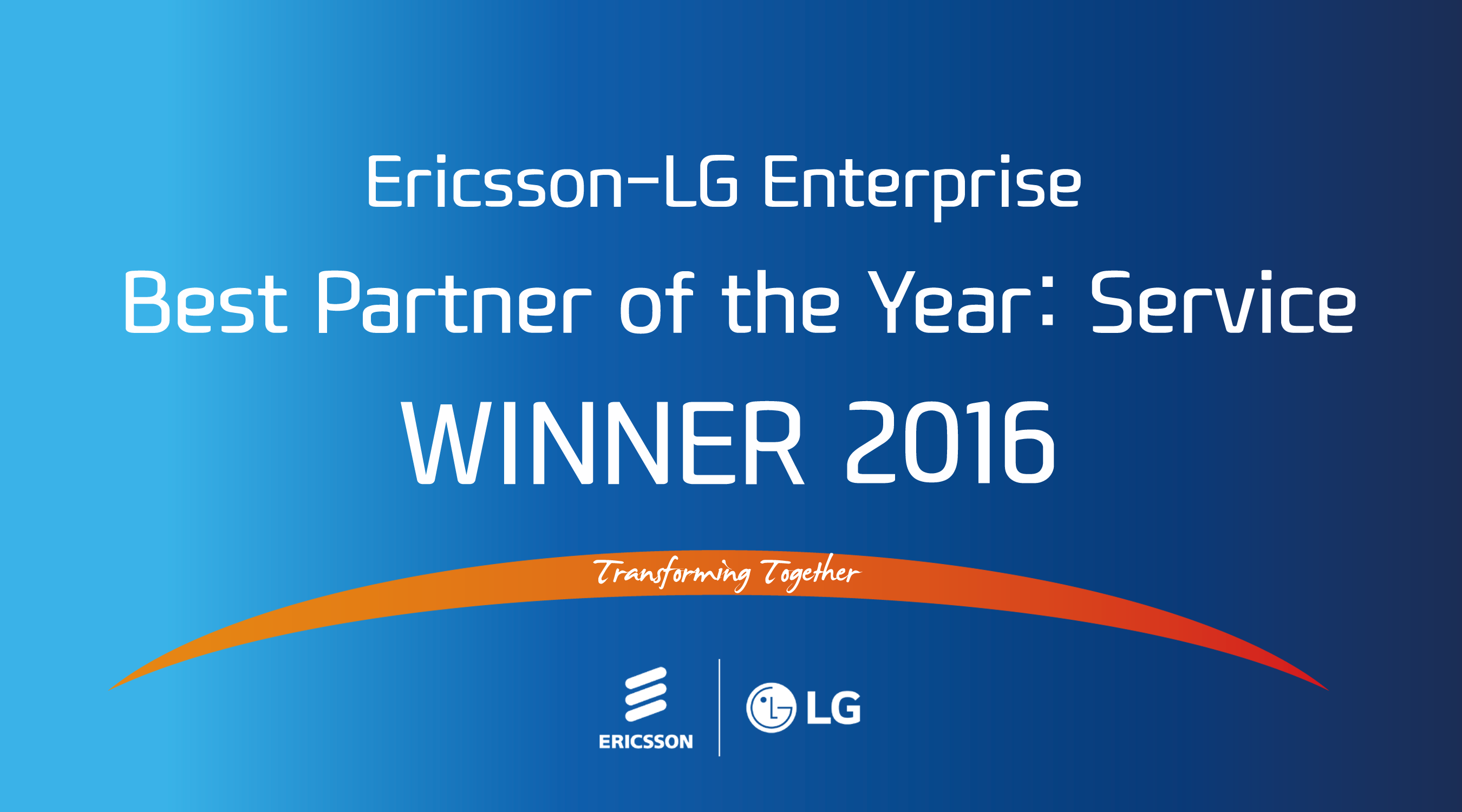 Ericsson-LG Enterprise Best Partner of the Year - Service 2016